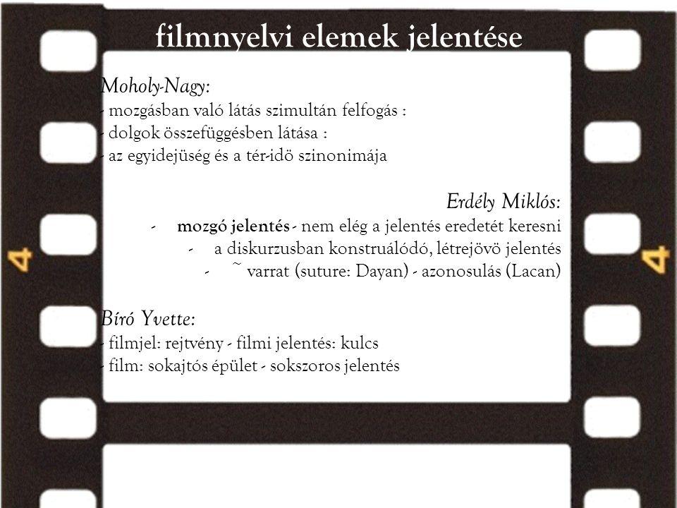 filmnyelvi elemek jelentése