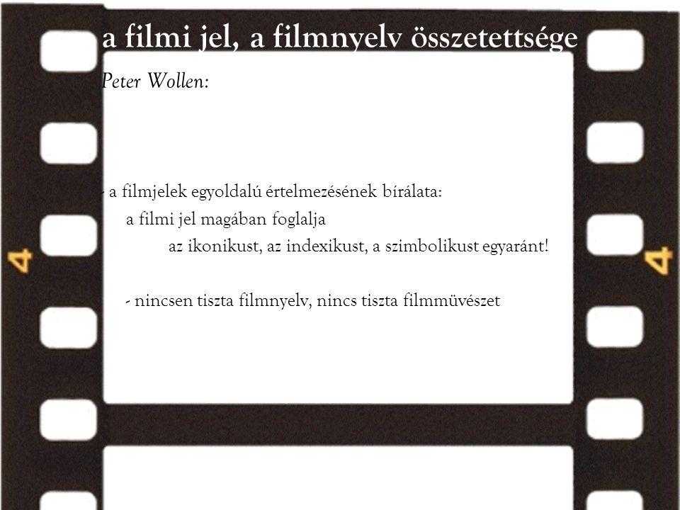 a filmi jel, a filmnyelv összetettsége