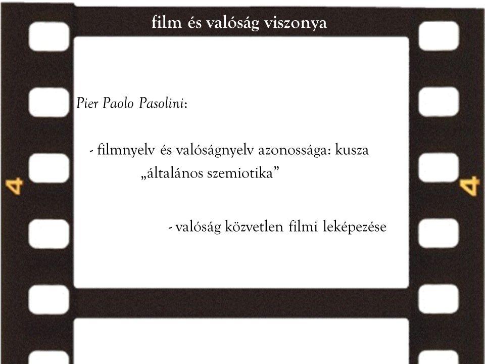 film és valóság viszonya