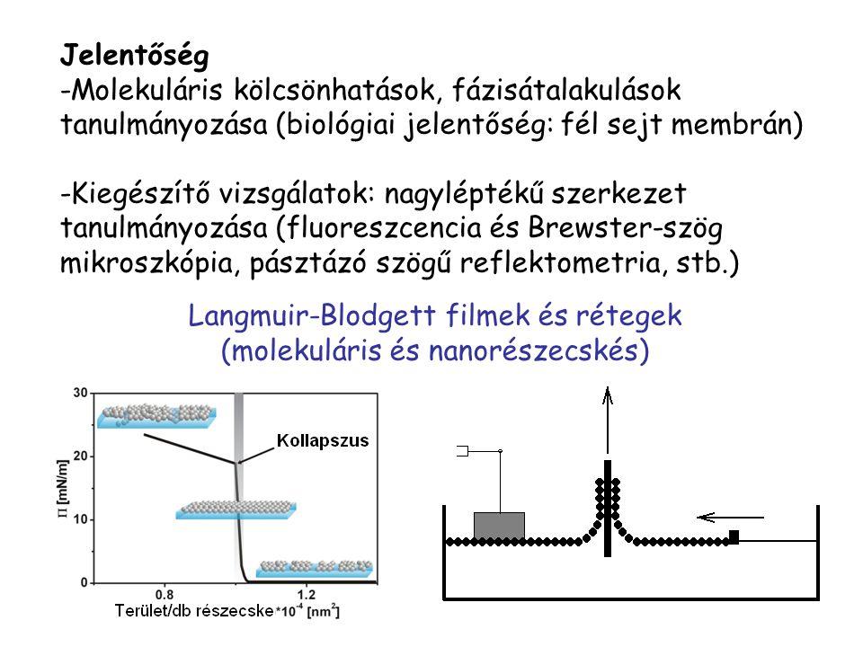 Langmuir-Blodgett filmek és rétegek (molekuláris és nanorészecskés)