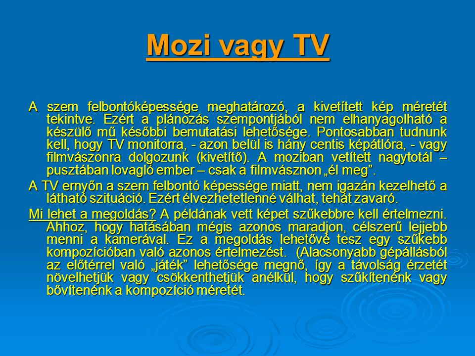 Mozi vagy TV