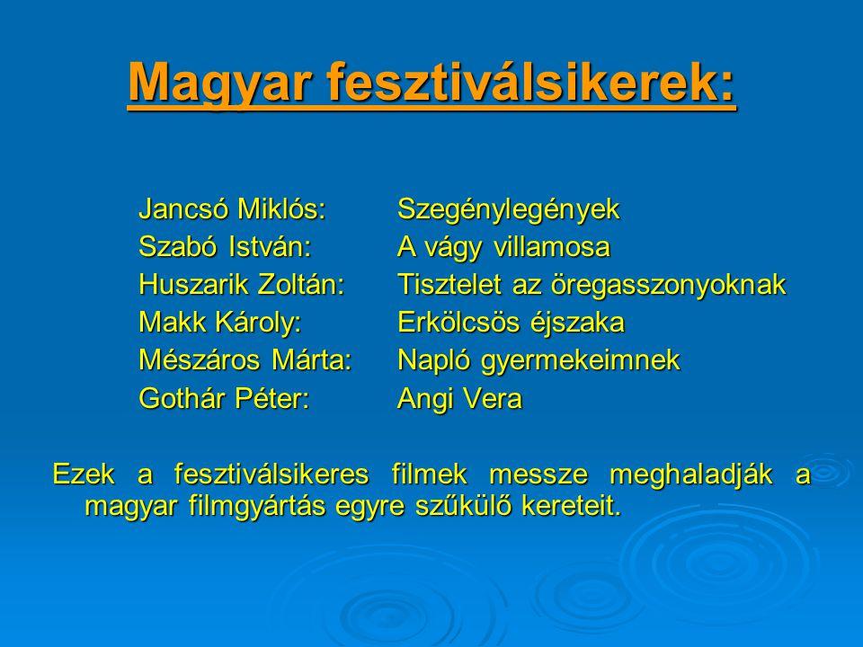 Magyar fesztiválsikerek: