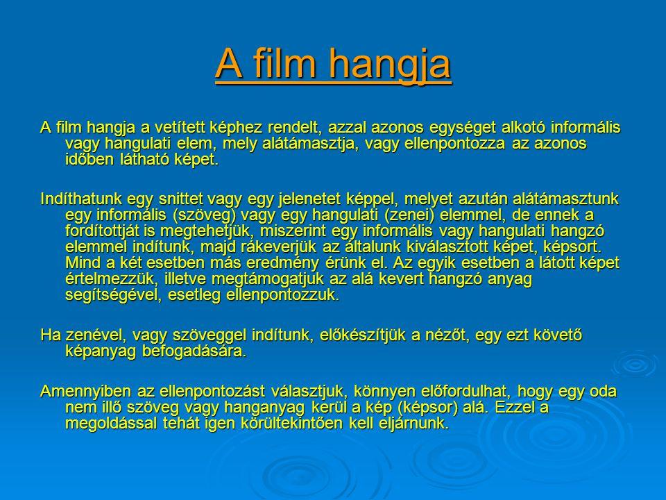 A film hangja