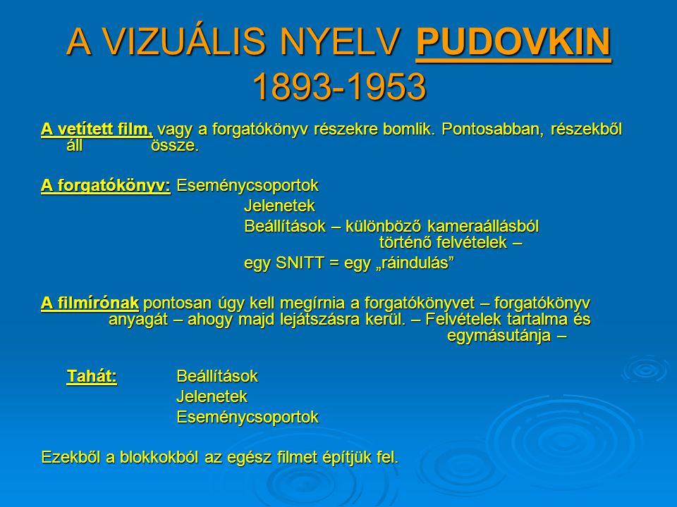 A VIZUÁLIS NYELV PUDOVKIN 1893-1953