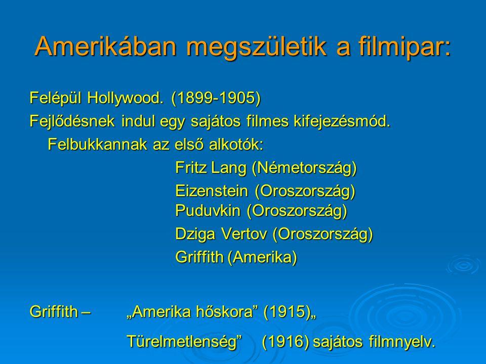 Amerikában megszületik a filmipar: