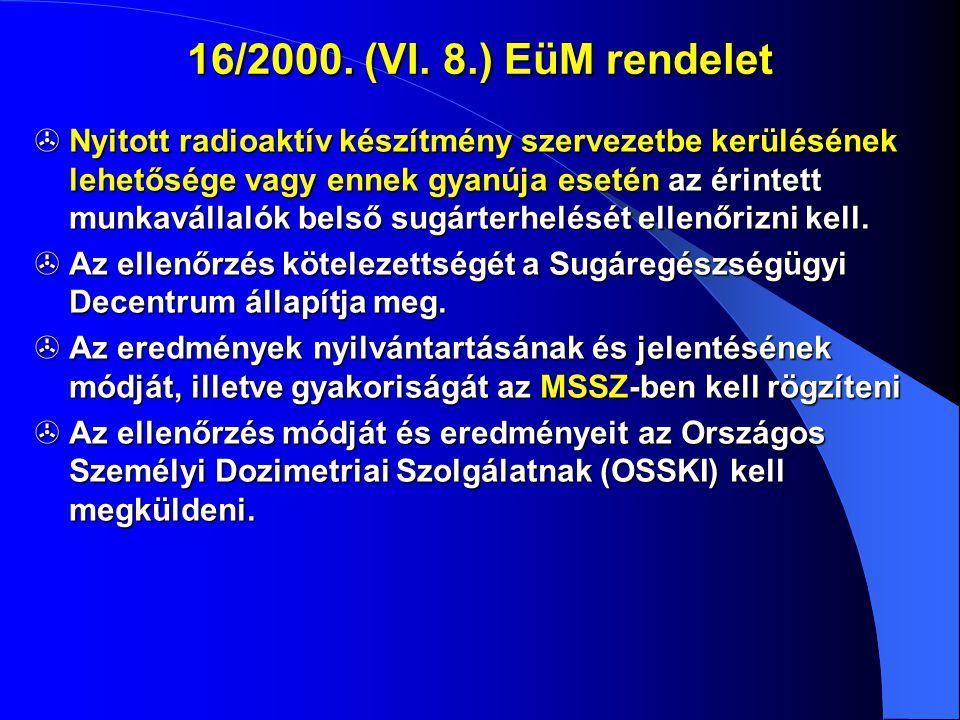 16/2000. (VI. 8.) EüM rendelet