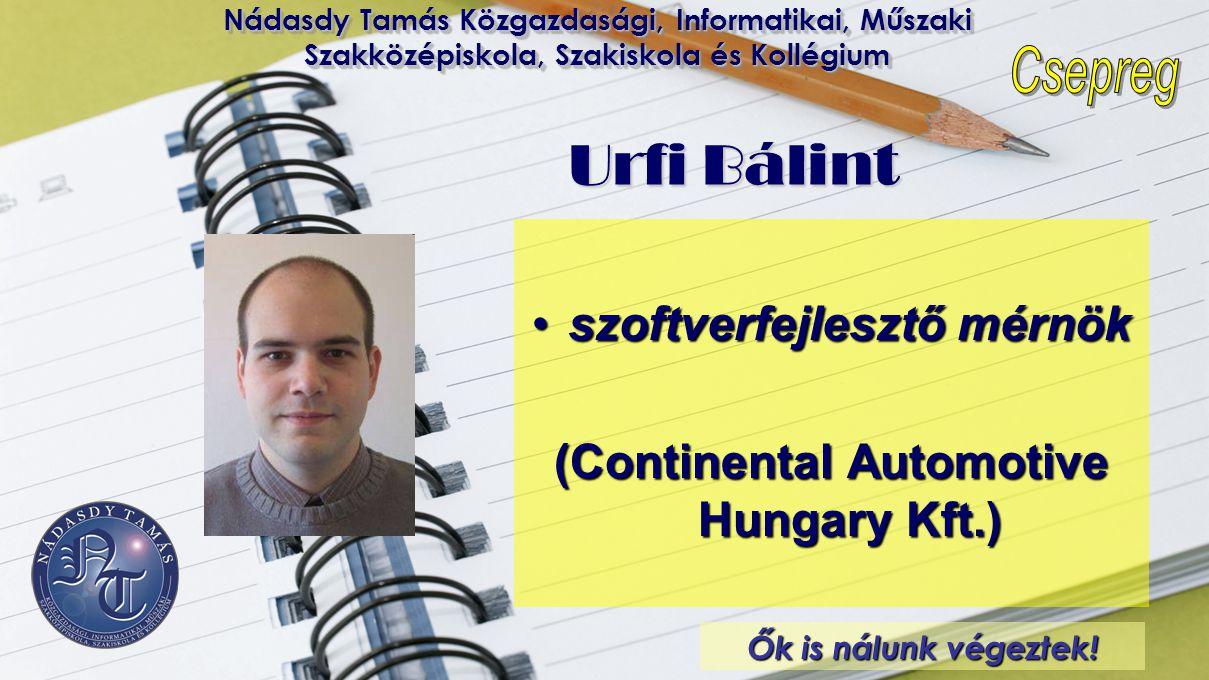 szoftverfejlesztő mérnök (Continental Automotive Hungary Kft.)