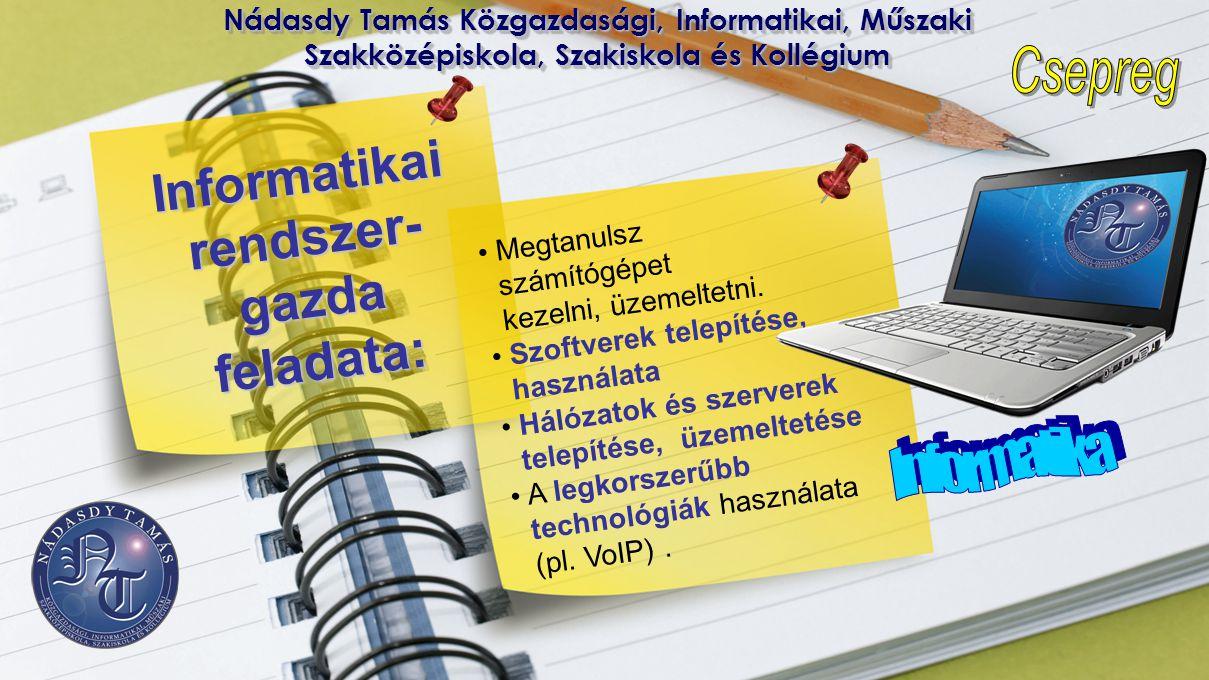 Informatikai rendszer-gazda feladata: