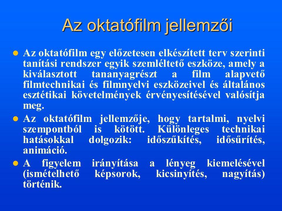 Az oktatófilm jellemzői