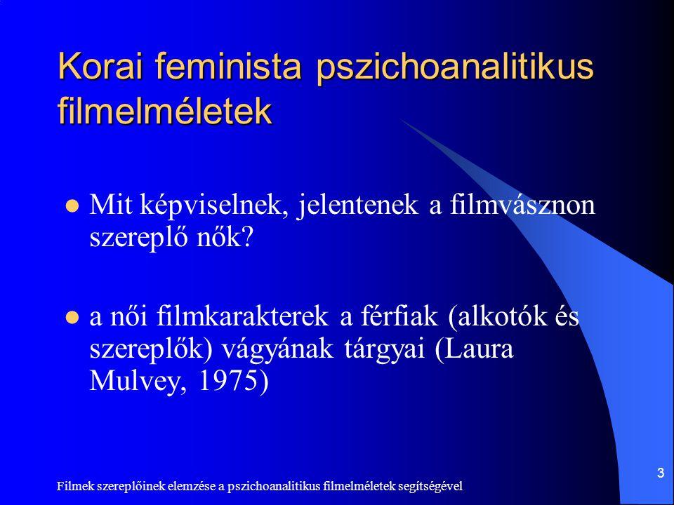 Korai feminista pszichoanalitikus filmelméletek