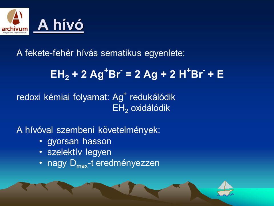 EH2 + 2 Ag+Br- = 2 Ag + 2 H+Br- + E