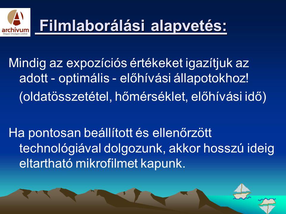 Filmlaborálási alapvetés: