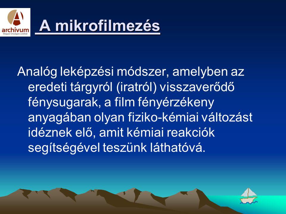 A mikrofilmezés