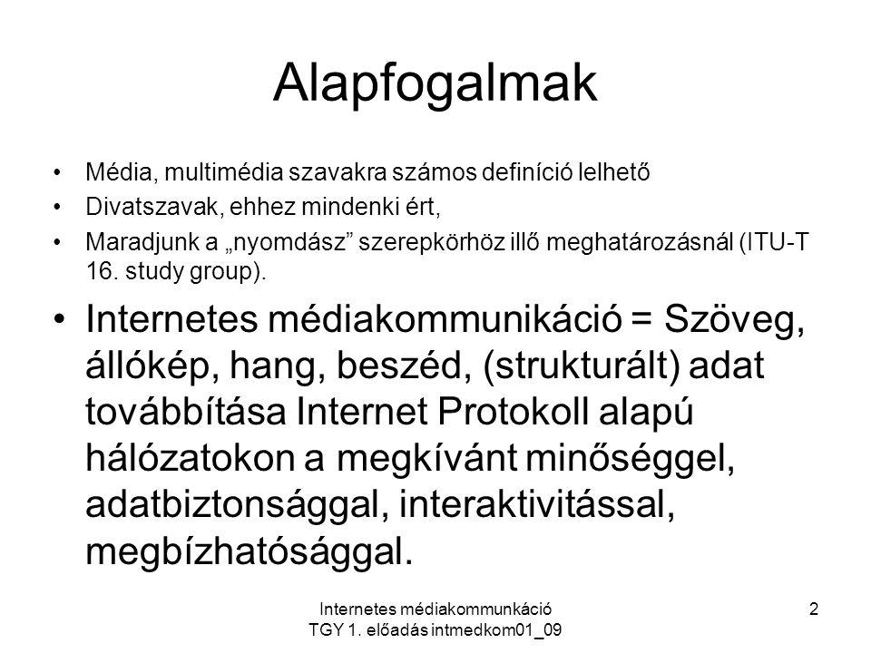Internetes médiakommunkáció TGY 1. előadás intmedkom01_09