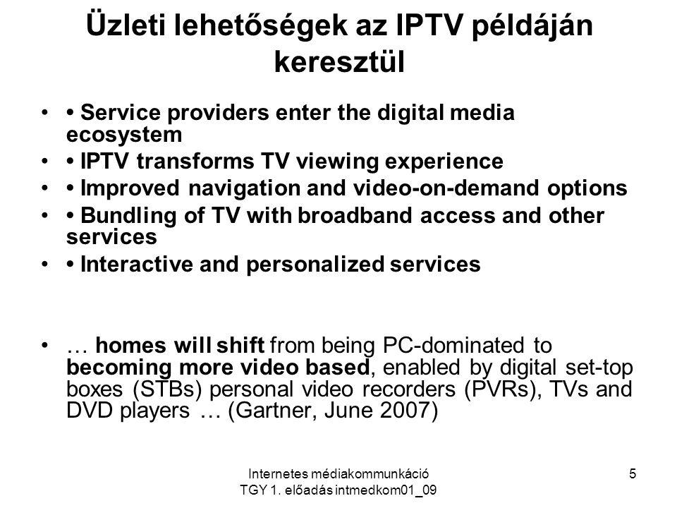 Üzleti lehetőségek az IPTV példáján keresztül