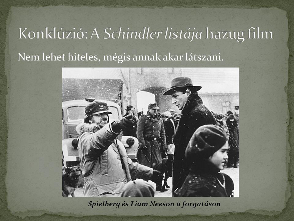 Konklúzió: A Schindler listája hazug film