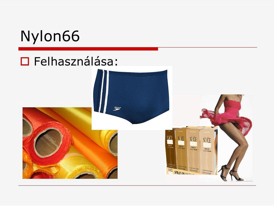 Nylon66 Felhasználása:
