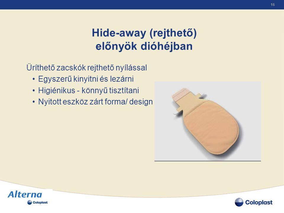 Hide-away (rejthető) előnyök dióhéjban