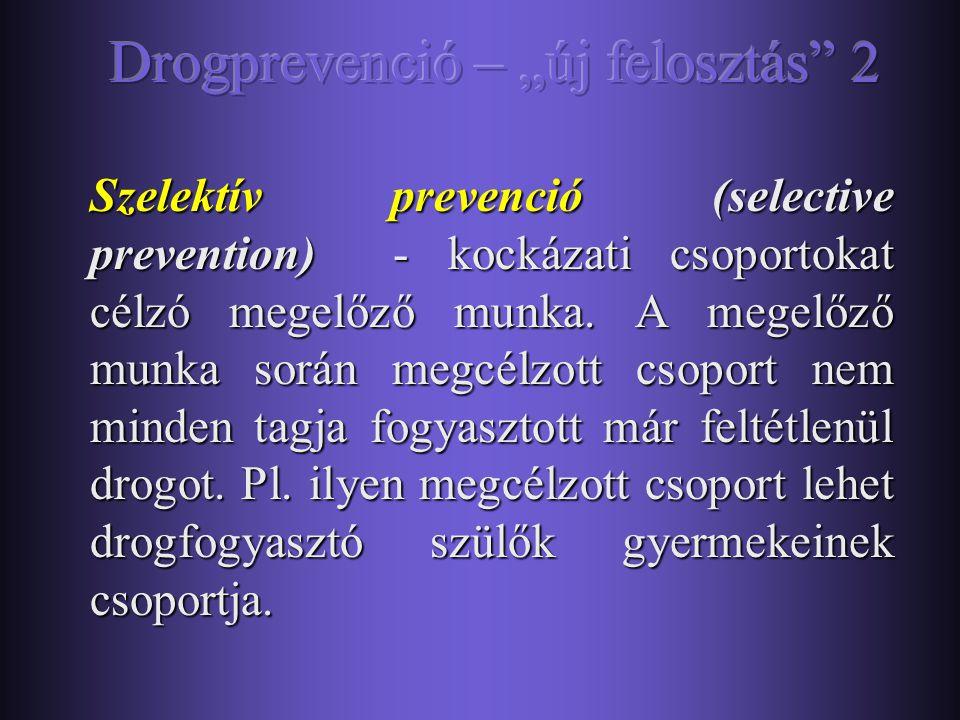 """Drogprevenció – """"új felosztás 2"""