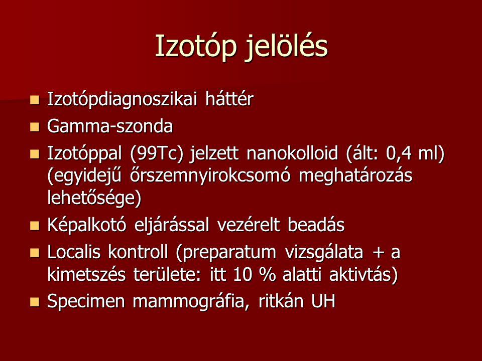 Izotóp jelölés Izotópdiagnoszikai háttér Gamma-szonda