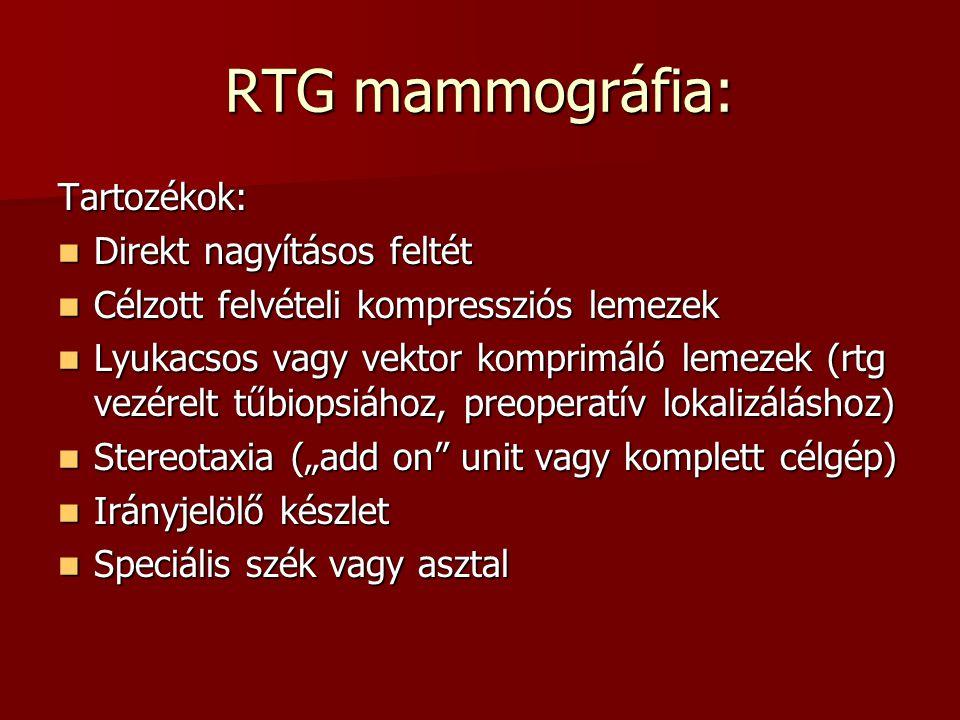 RTG mammográfia: Tartozékok: Direkt nagyításos feltét