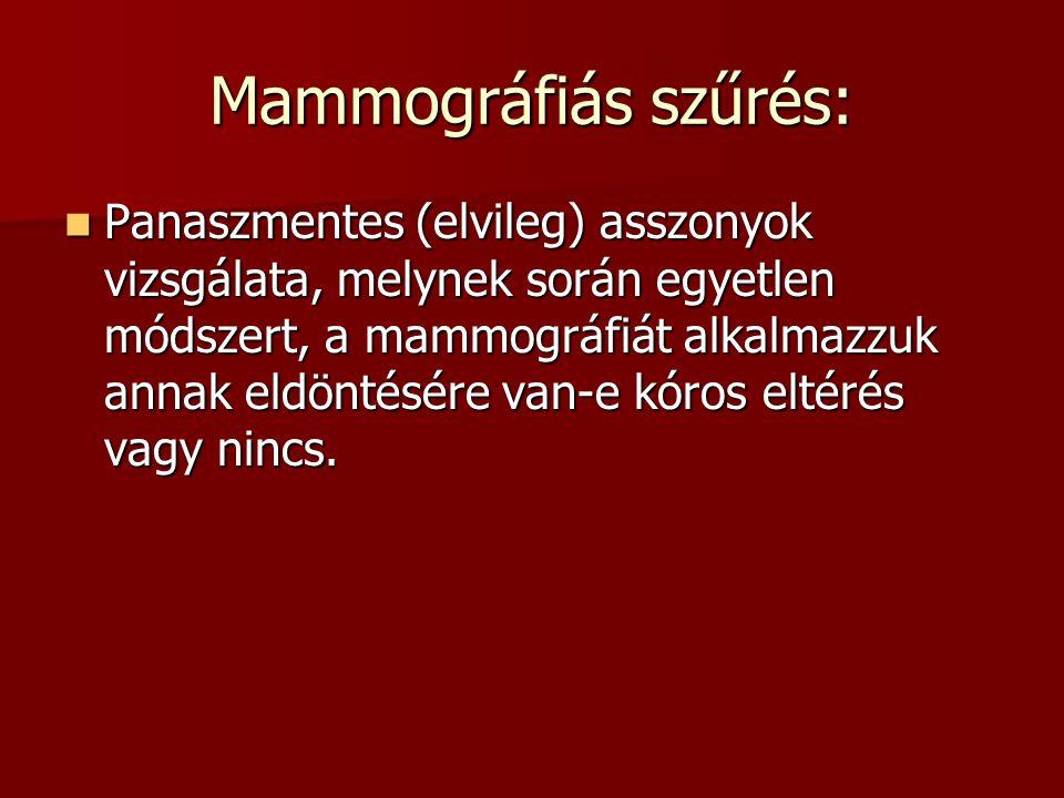Mammográfiás szűrés: