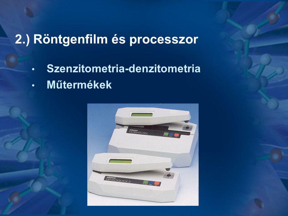 2.) Röntgenfilm és processzor