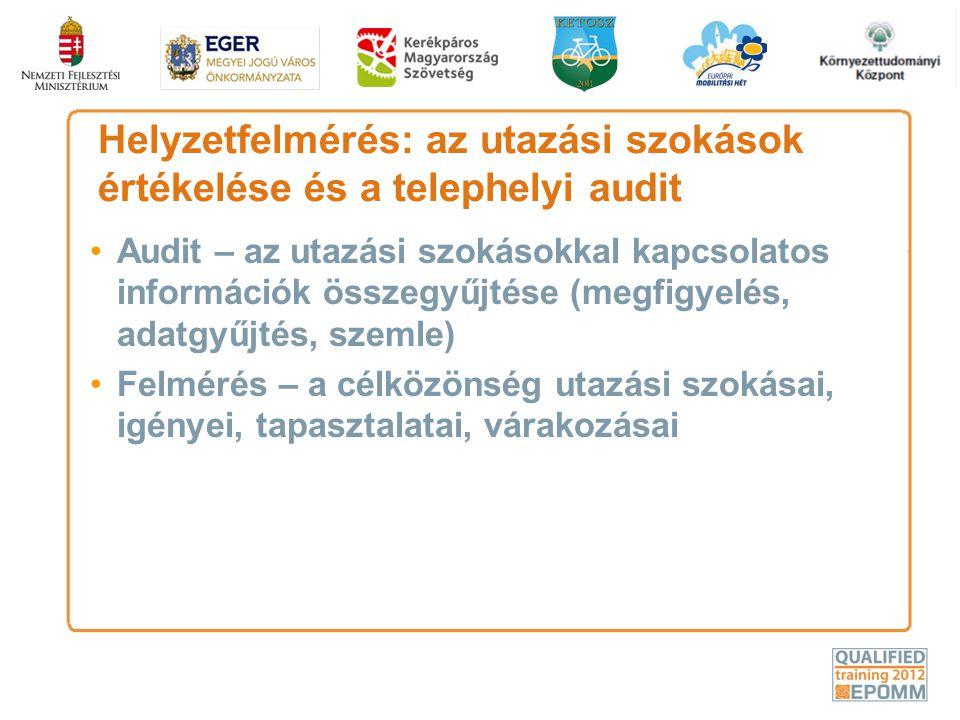 Helyzetfelmérés: az utazási szokások értékelése és a telephelyi audit