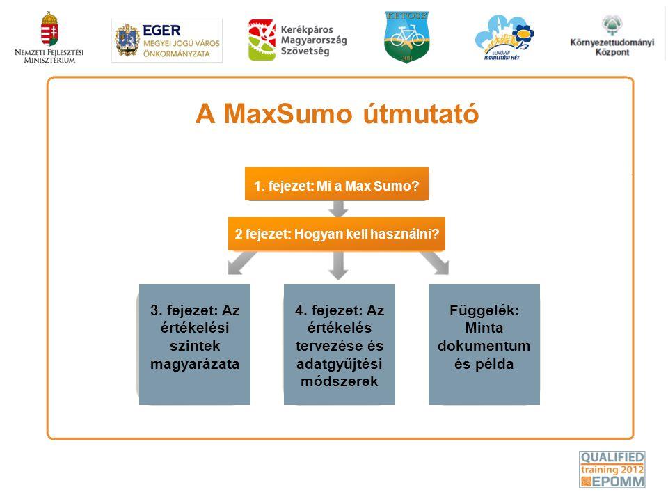 A MaxSumo útmutató 3. fejezet: Az értékelési szintek magyarázata