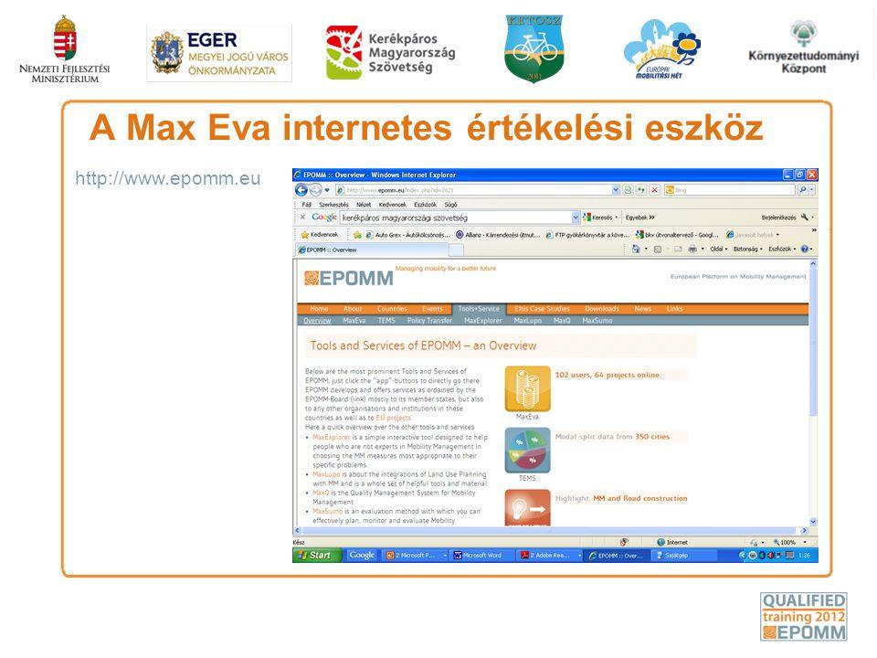 A Max Eva internetes értékelési eszköz