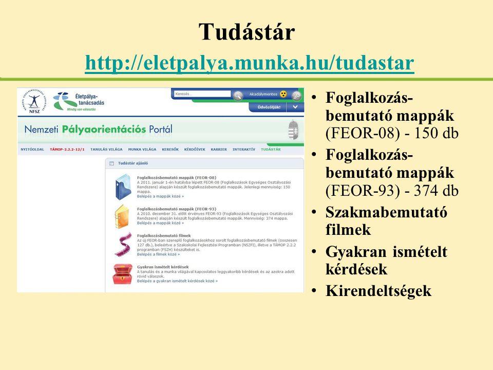 Tudástár http://eletpalya.munka.hu/tudastar