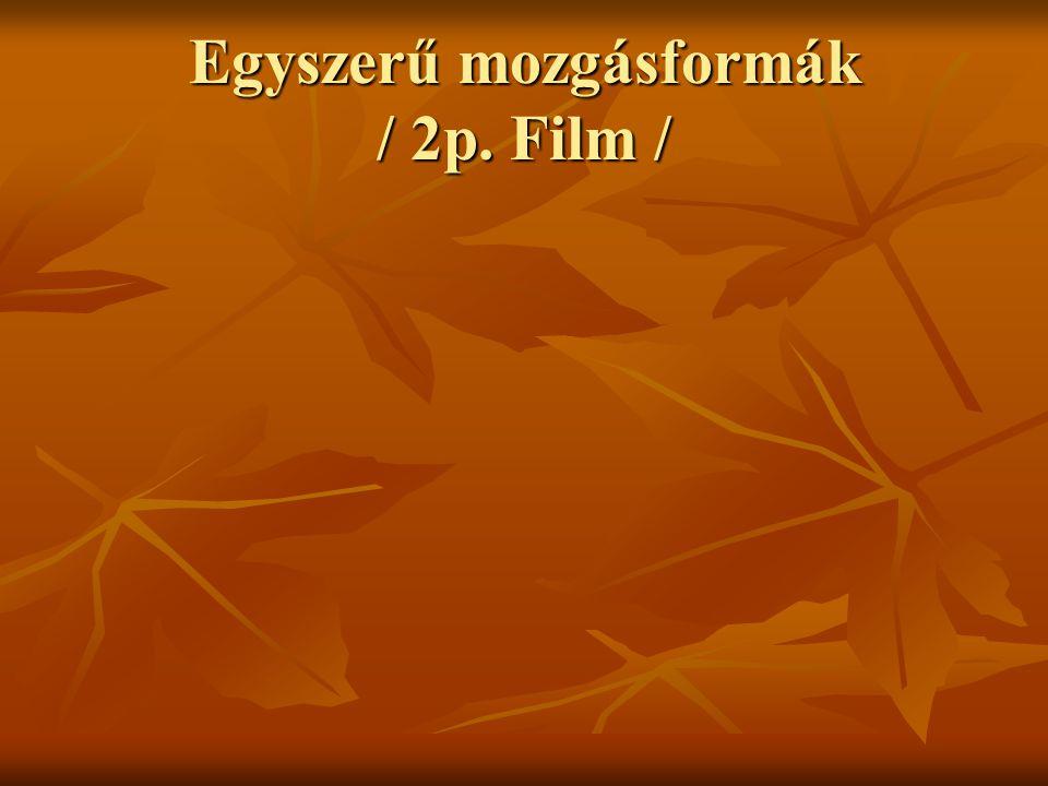 Egyszerű mozgásformák / 2p. Film /