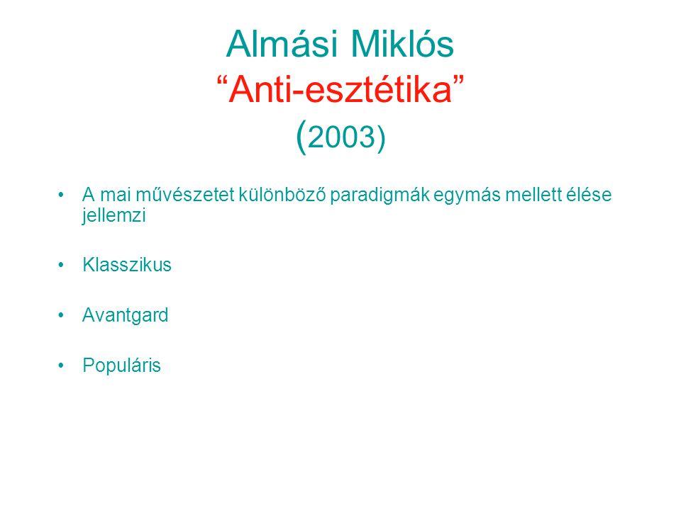 Almási Miklós Anti-esztétika (2003)