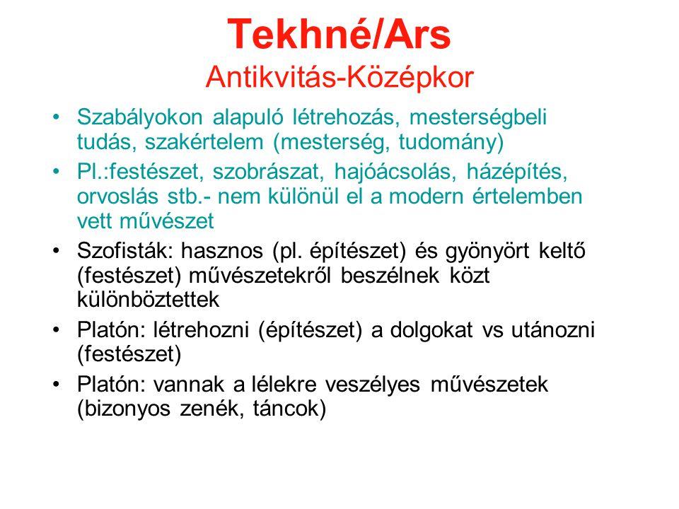 Tekhné/Ars Antikvitás-Középkor