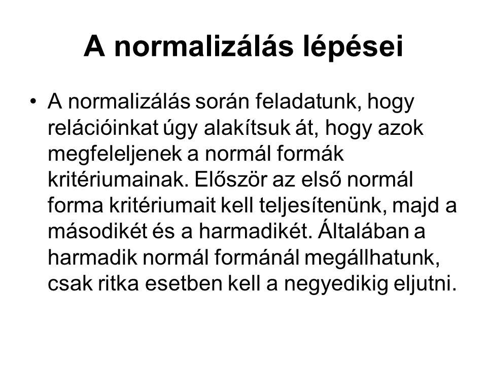 A normalizálás lépései