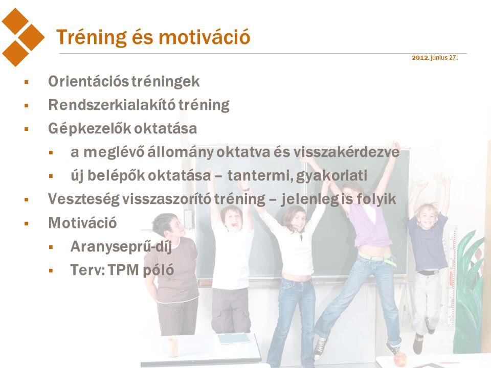 Tréning és motiváció Orientációs tréningek Rendszerkialakító tréning