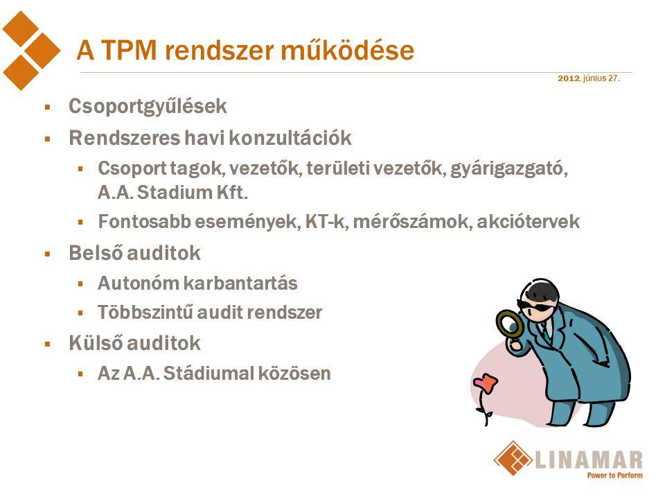 A TPM rendszer működése