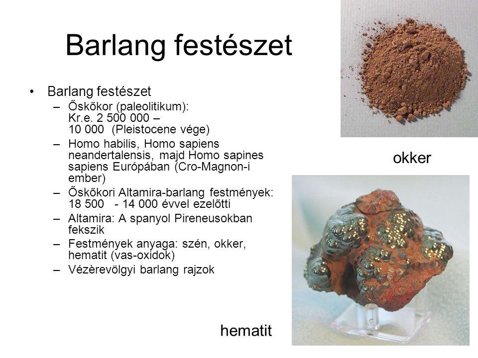 Barlang festészet okker hematit Barlang festészet