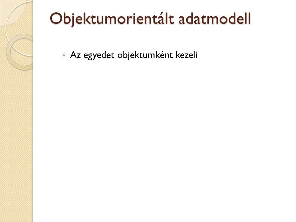 Objektumorientált adatmodell