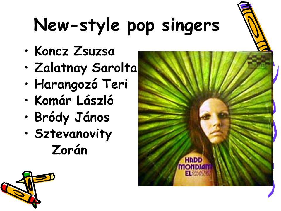 New-style pop singers Koncz Zsuzsa Zalatnay Sarolta Harangozó Teri