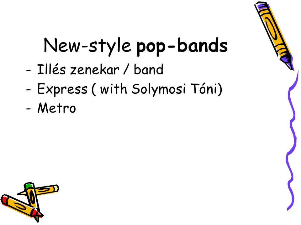 New-style pop-bands Illés zenekar / band Express ( with Solymosi Tóni)