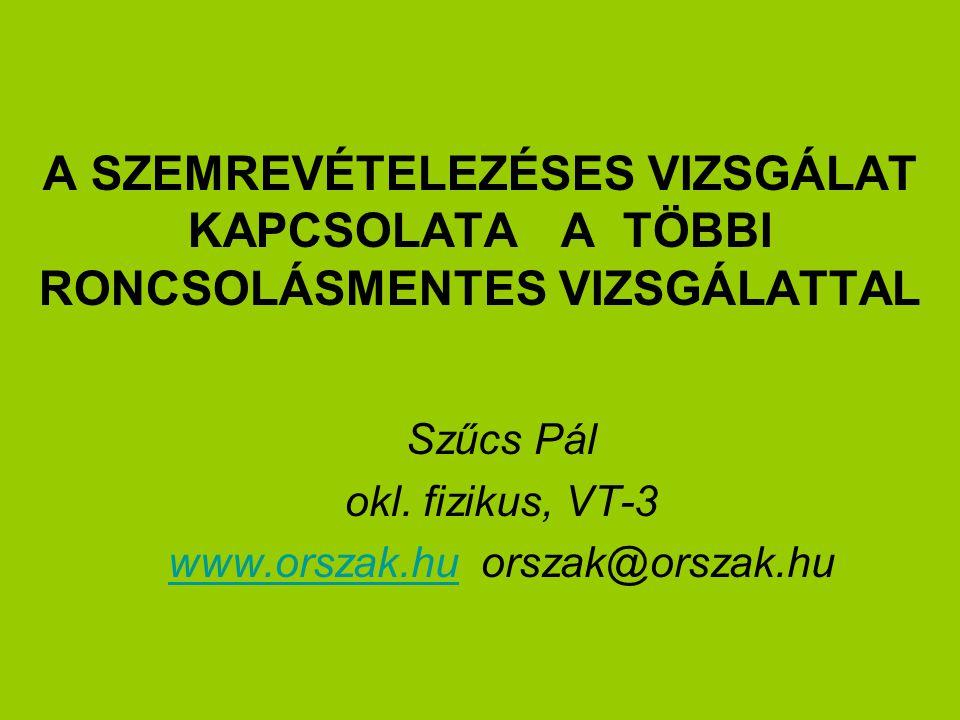 Szűcs Pál okl. fizikus, VT-3 www.orszak.hu orszak@orszak.hu