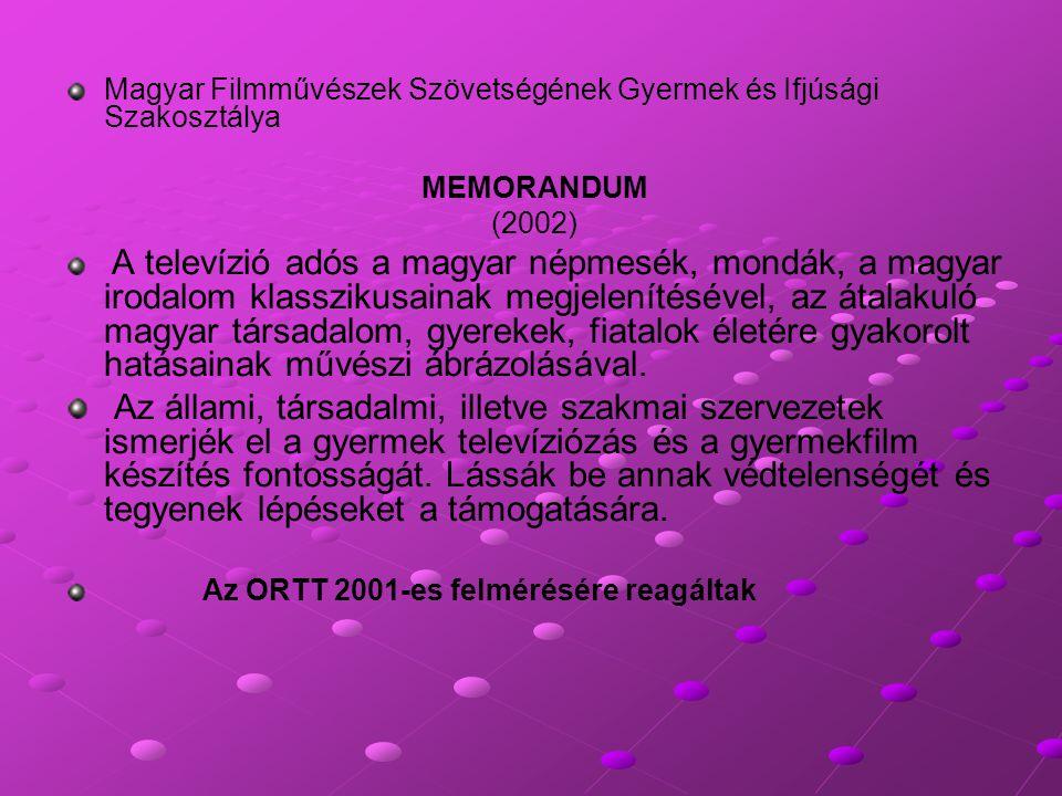 Magyar Filmművészek Szövetségének Gyermek és Ifjúsági Szakosztálya