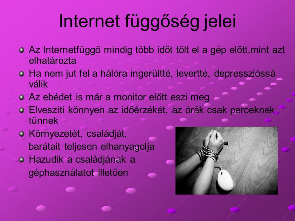 Internet függőség jelei