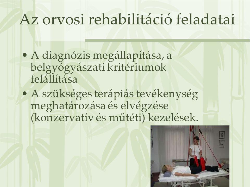 Az orvosi rehabilitáció feladatai