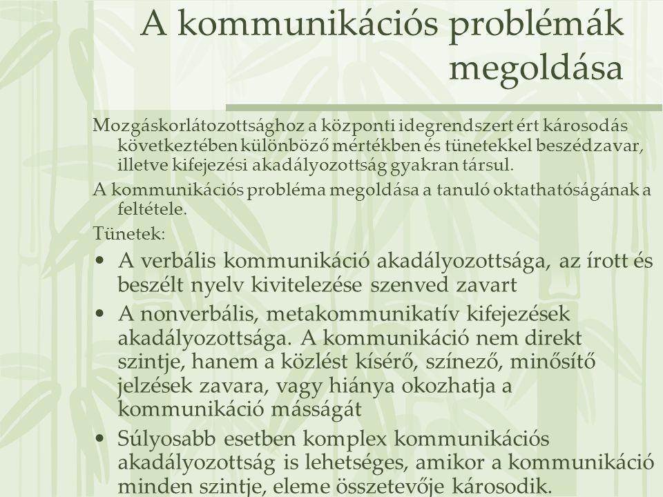 A kommunikációs problémák megoldása