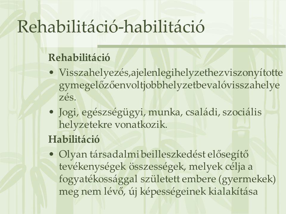 Rehabilitáció-habilitáció