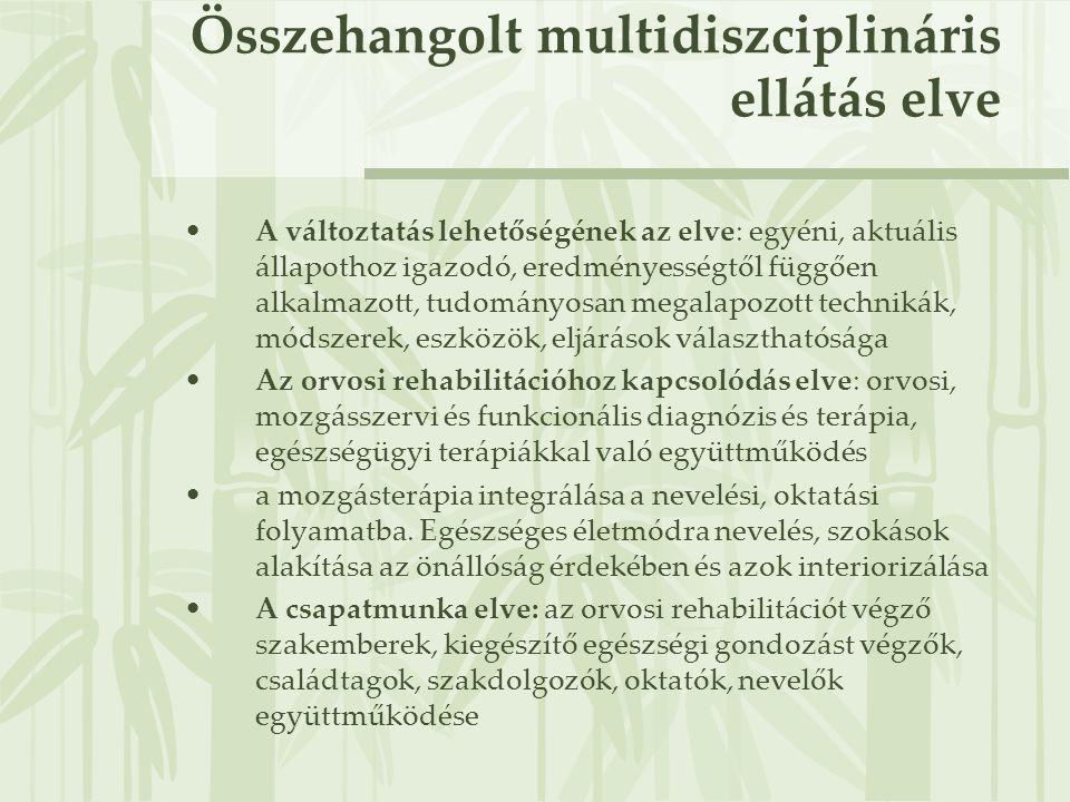 Összehangolt multidiszciplináris ellátás elve