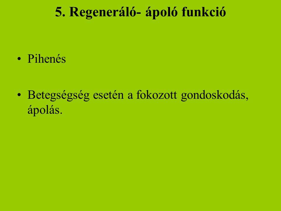 5. Regeneráló- ápoló funkció