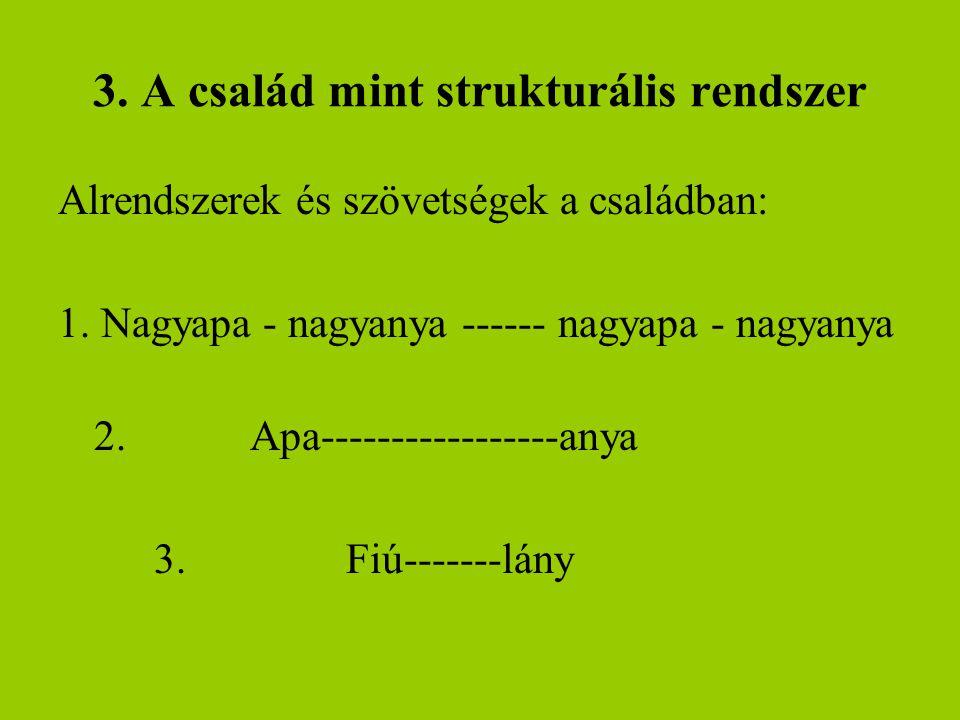 3. A család mint strukturális rendszer